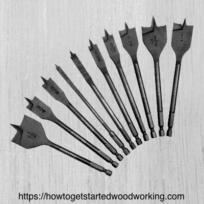 Spade drill bit assortment