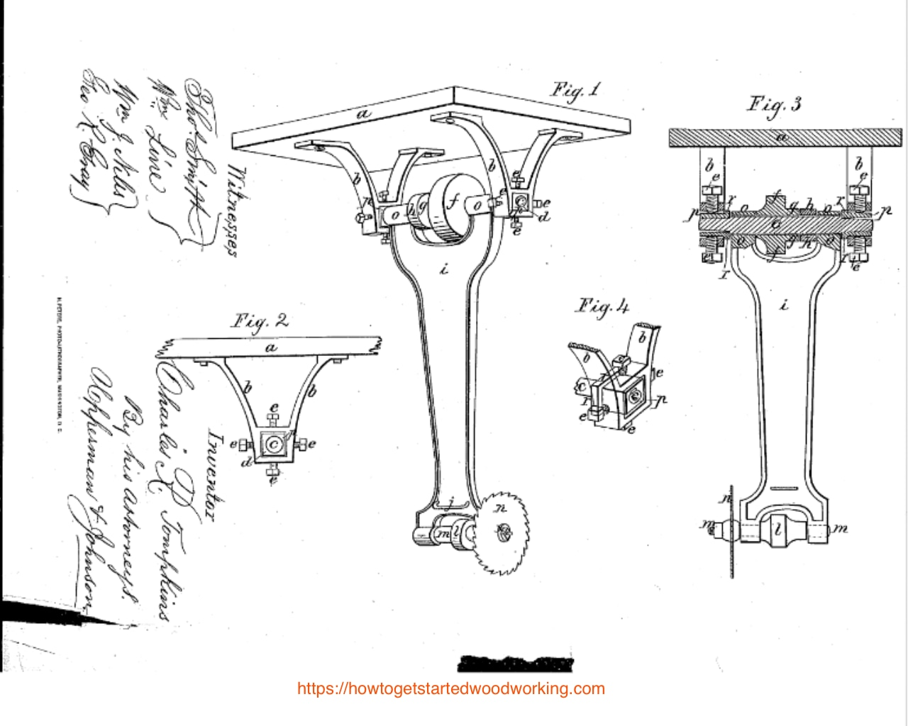 C.R. Tompkins hanging Saws