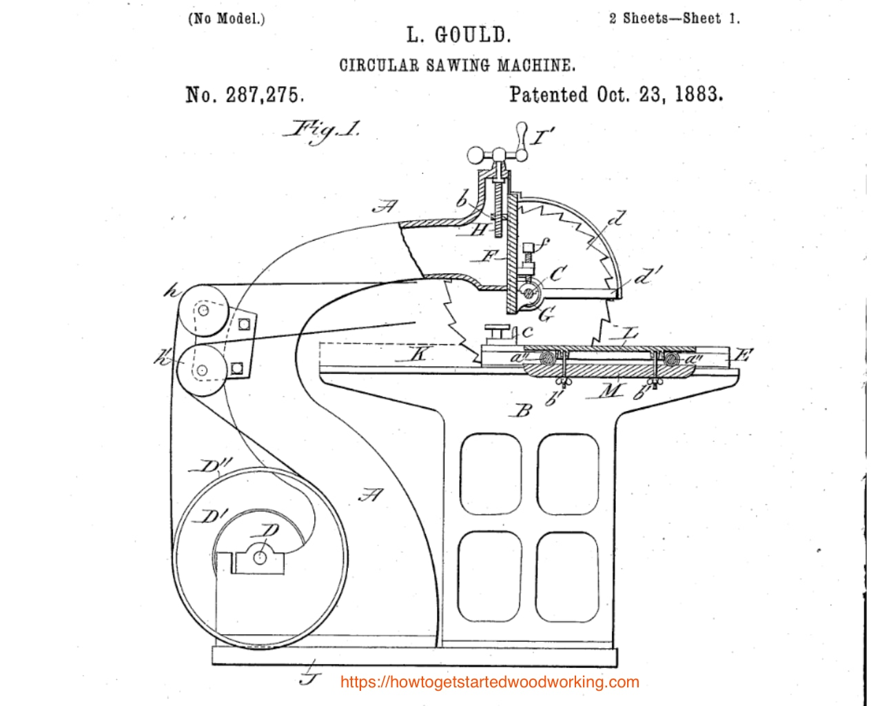 L. Gould Table Saw 1883