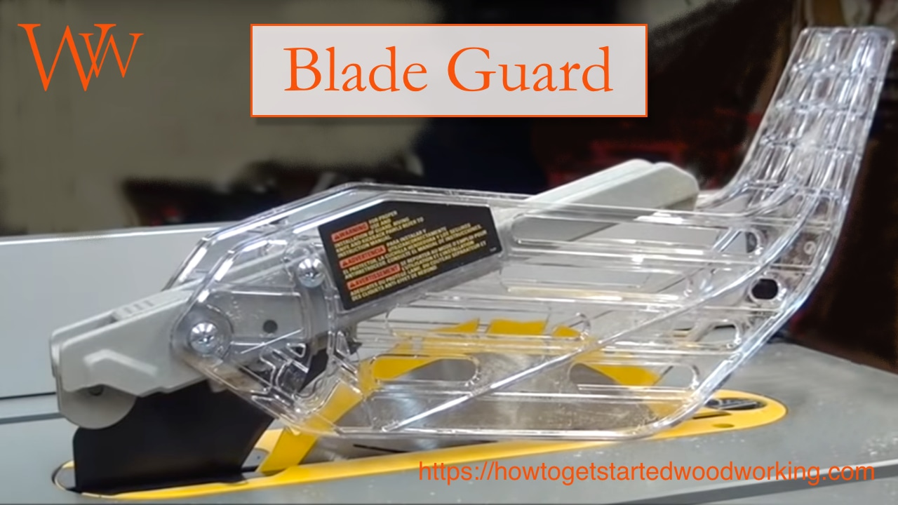 Table saw blade guard