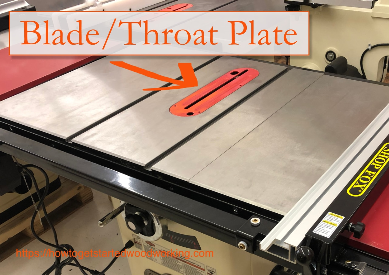 table saw throat plate